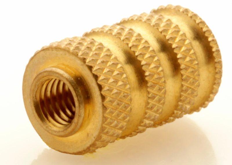 Brass Knurled Insert, screw machining project